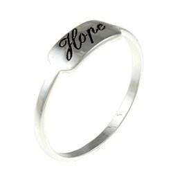 Samara Sterling Silver 'Hope' Ring