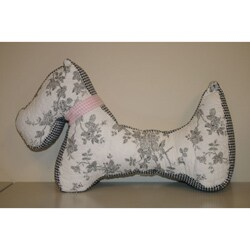 Quilted Scottie Decorative Pillow