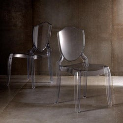 Canali Crystal Clear Polycarbonate Chair (Set of 2)