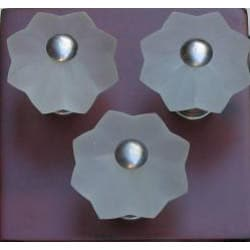 Clear Frosted Star Glass and Satin Nickel Knobs (Set of 5)