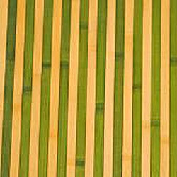 Asian Hand-woven Green/ Tan Stripe Bamboo Rug (2' x 3')