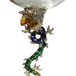 Cristiani Crystal Jeweled Dragon Wine Glasses