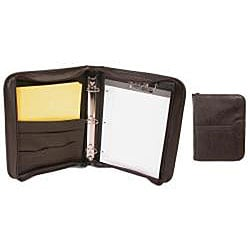 Zippered Letter Padfolio and 3-ring Binder
