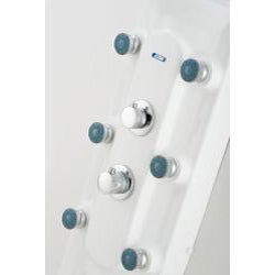 Aston 55-inch White Acrylic 6-jet Shower Panel
