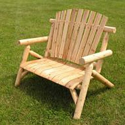 White Cedar 4-foot Log Love Seat