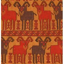 Afghani Hand-woven Beige/ Rust Tribal Soumak Kilim Wool Rug (5'10 x 9'2)