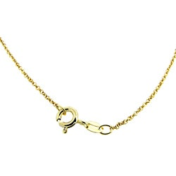 Dolce Giavonna Gold over Silver Emerald and Diamond Accent Circle Necklace