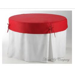 Betty Topper 48-inch Round Fitted Tablecloth