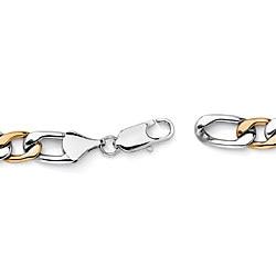 Neno Buscotti Two-Tone Stainless Steel Bracelet