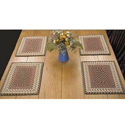 Cotton Tweed Rectangle Placemats (Set of 4)