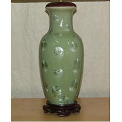 Light Green Ginko Porcelain Table Lamp