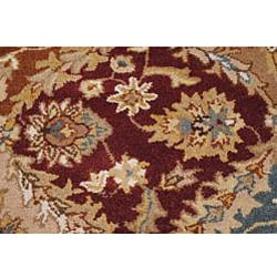 Hand-tufted Royal Garden Multicolor Ornate Wool Rug (8' x 11')