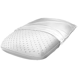 Medium-firm Square Latex Foam Pillow with Removable Zip Cover