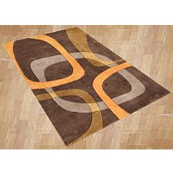 Hand-tufted Metro Chocolate Brown Wool Rug (8' x 10')