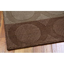 Nourison Hand-tufted Panache Chocolate Wool Rug (7'3 x 9'3)