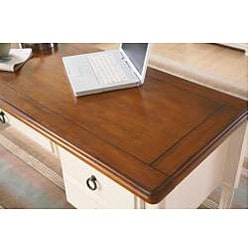 Broyhill Chestnut and Whitewash Writing Desk