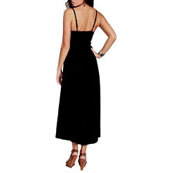 Women's Black Sequined Maxi Dress (Indonesia)
