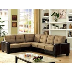Furniture of America Reese 2-piece Microfiber Sectional Sofa