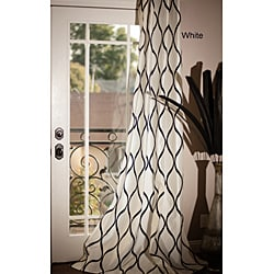 Casa Flocked Faux Silk Grommet 84-inch Window Panel