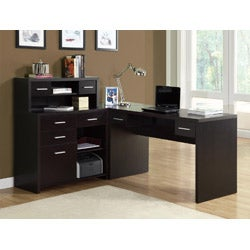 Cappuccino L Shaped Desk