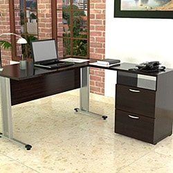 Inval L Workstation with Two File Drawers