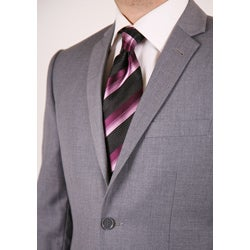 Ferrecci Men's Light Grey Slim Fit Suit