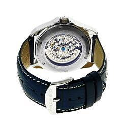 Android Women's Concept T-40 Blue Skeleton Automatic Leather Watch