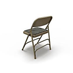 Mayline Event Series Upholstered Steel Folding Chairs (Pack of 4)