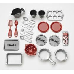 American Plastic Toys Cookin Kitchen Play Set with Realistic Burners.