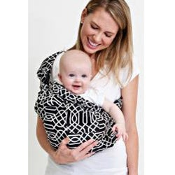 Balboa Baby Adjustable Sling in Black/White Geo