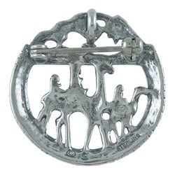 Silvermoon Sterling Silver Three Wise Men Crystal Brooch
