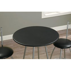 Silver and Black 3-piece Pub Table Set