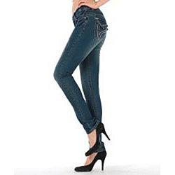 MDZ Women's Stacy Dark Skinny Jeans