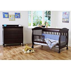 DaVinci Jacob 4-in-1 Crib with Toddler Rail in Espresso