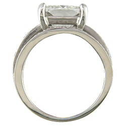 18k White Gold Certified 4 3/4ct TDW Clarity-enhanced Diamond Ring