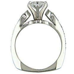 14k White Gold 1 3/4ct TDW Certified Clarity-Enhanced Diamond Engagement Ring (G-H,VS2 )