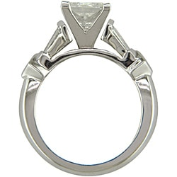 14k White Gold 2 1/2ct TDW Certified Clarity-Enhanced Diamond Engagement Ring (H-I,SI2)