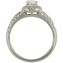14k White Gold 1 1/10ct TDW Certified Clarity-Enhanced Diamond Engagement Ring (J-K,SI1 )