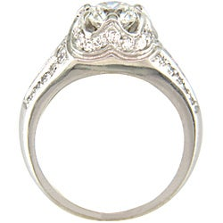 18k White Gold 2 1/10ct TDW Certified Clarity-Enhanced Diamond Engagement Ring (G-H,SI1)