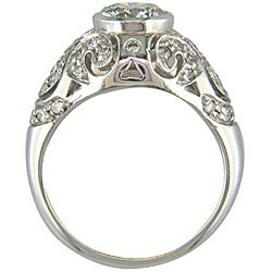 14k White Gold Certified 1 3/5 TDW Clarity-Enhanced Diamond Ring
