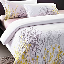 Reed Embroidered 3-piece Duvet Cover Set