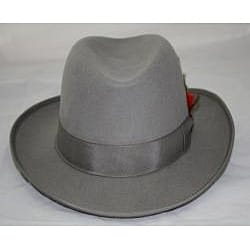 Ferrecci Men's Gray Wool Godfather Hat