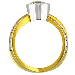 18k Gold 2 3/4ct TDW Certified Clarity-Enhanced Diamond Engagement Ring (I-J, VS2)