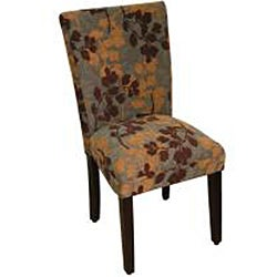 Class Parson Brown/ Tan Leaf Fabric Dining Chair