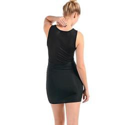 Stanzino Women's Black Sequins and Sheer Dress