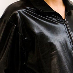 American Apparel Lamé Black Shiny Windbreaker
