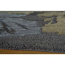 Hand Tufted Montage Splash Charcoal Rug (7'6x9'6)