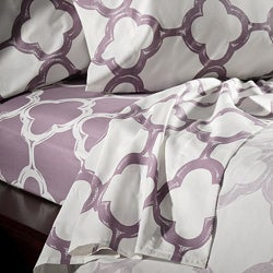Lyon Cotton Rich Percale 300 Thread Count Queen Sheet Set