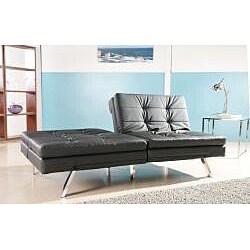 Memphis BLack Double Cusion Sofa Bed