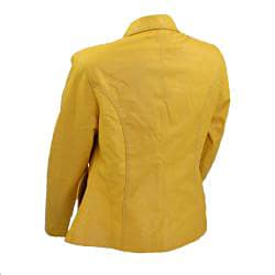 Women's Modern Flair Yellow Leather Jacket (Ecuador)